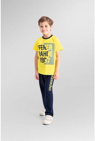 Fenerbahçe Lisanslı Sarı Erkek Çocuk Pijama Takımı