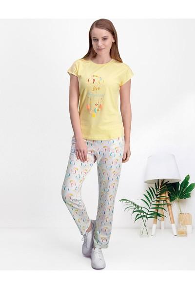 Pierre Cardin Sarı Kadın Pijama Takımı