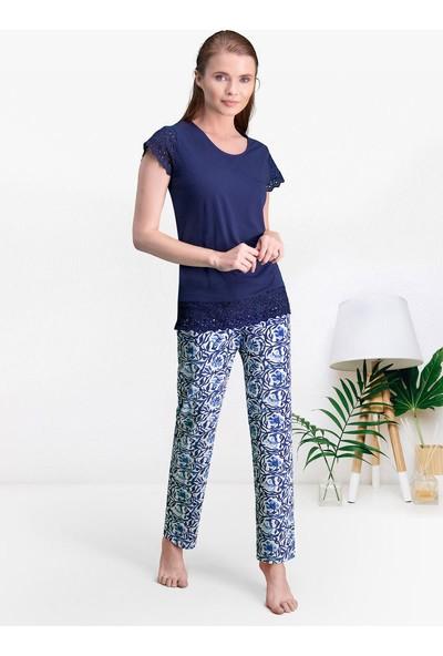 Pierre Cardin Lacivert Kadın Pijama Takımı