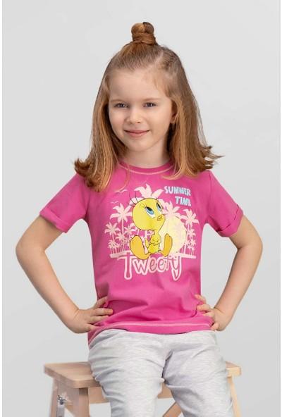 Looney Tunes Lisanslı Fuşya Kız Çocuk T-Shirt