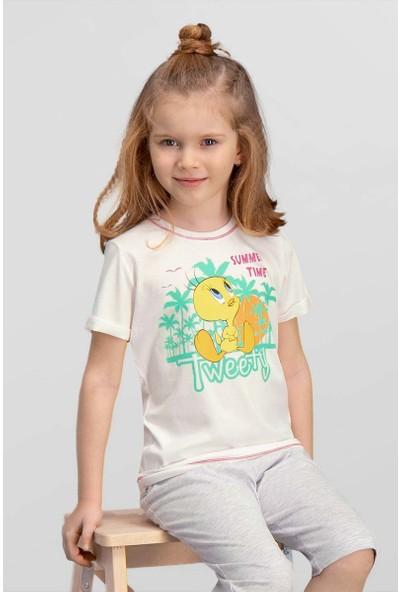 Looney Tunes Lisanslı Krem Kız Çocuk T-Shirt