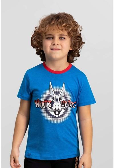 Looney Tunes Lisanslı Mavi Erkek Çocuk T-Shirt