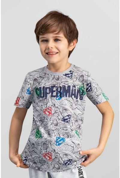 Superman Lisanslı Grimelanj Erkek Çocuk T-Shirt