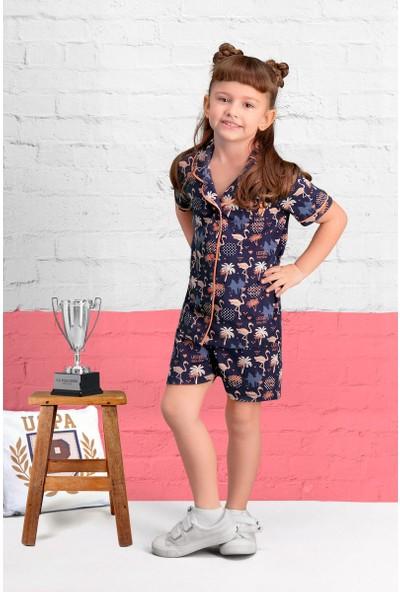 U.S. Polo Assn Lisanslı Lacivert Kız Çocuk Şort Takım