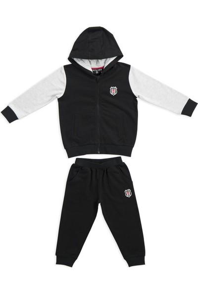 Beşiktaş Lisanslı Çocuk Eşofman Takımı Siyah