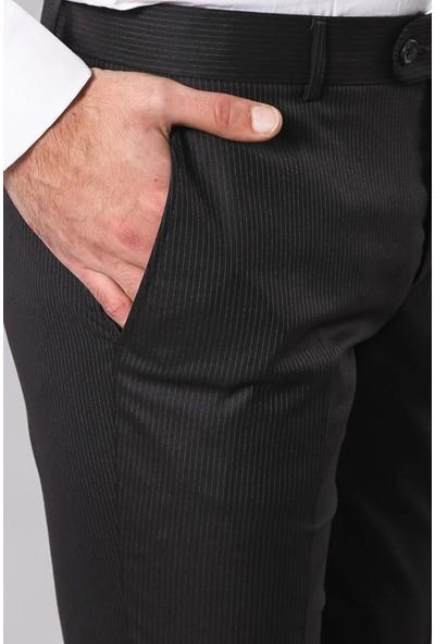 Wessi Çizgili Kahverengi Takım Elbise