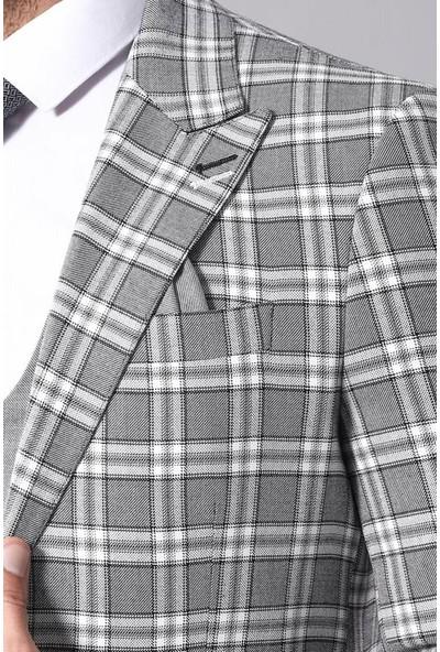 Wessi Ekose Ceketli Yelekli Takım Elbise