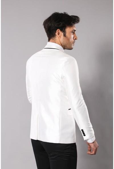 Wessi Parlak Krem Takım Elbise