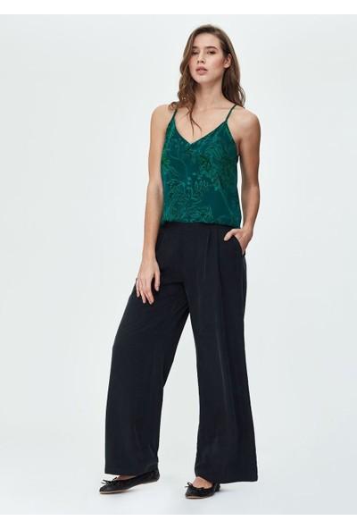 Dagi Kadın Cupro Askılı Bluz Yeşil