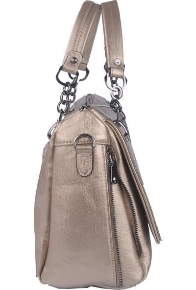 Just Polo Kadın Çapraz Askılı Çanta Altın 1880