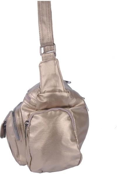 Just Polo Kadın Çapraz Askılı Çanta Altın 1894