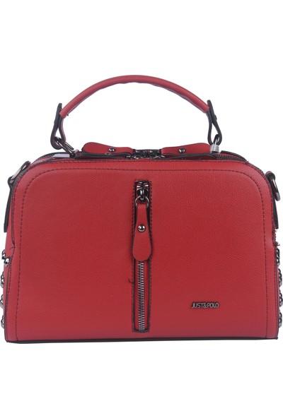 Just Polo Kadın Çapraz Askılı Çanta Kırmızı 1947