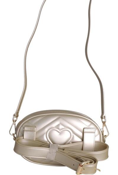 Kriste Bell Çapraz Askılı Silikon Kadın Çanta Altın 25915