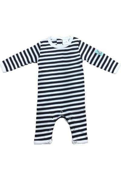 Uygun Bebe Çizgili Yenidoğan Erkek Bebek Tulumu