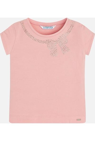 Mayoral Kız Çocuk T-Shirt Kurdelalı 174 Somon