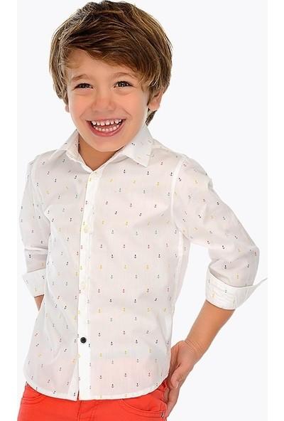 Mayoral Erkek Çocuk Renkli Çıpalı Kısa Kollu Gömlek 3137