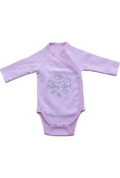 Uygun Bebe Kalpli Baby Girl Kız Bebek Yenidoğan Çıtçıtlı Body