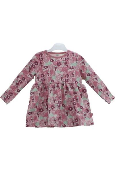 Uygun Bebe Gülkurusu Penye Kız Çocuk Elbise
