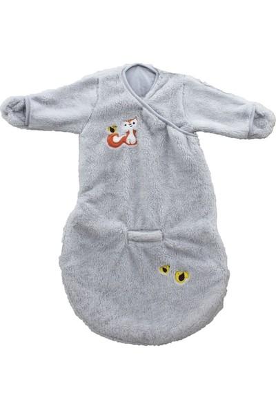 Uygun Bebe Tilki Nakışlı Bebek Welsoft Uyku Tulumu