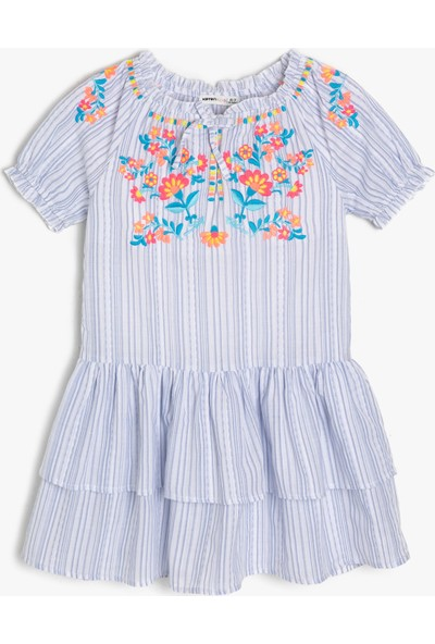 Koton İşlemeli Elbise