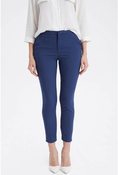 DeFacto Çizgili Slim Fit Pantolon K2560AZ19SP