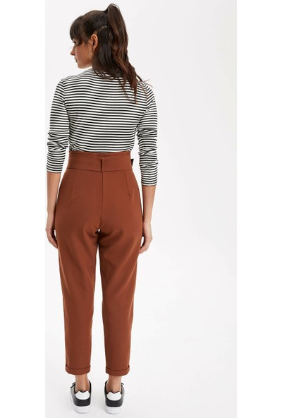 Defacto Kadın Kemerli Havuç Pantolon