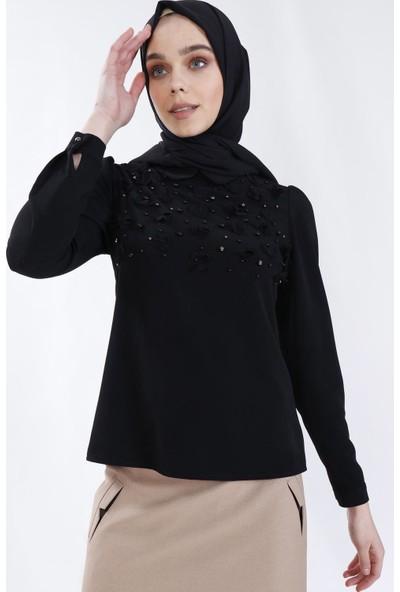 Sitare Önü Çiçekli Gömlek 19Y2479