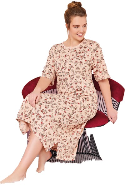 Çelebi 9283 Kadın Yazlık Büyük Beden Kısakol Pijama Takım