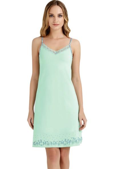 Baykar 9416 Kadın İnce Askılı Ev Elbisesi Gecelik