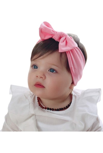 Babygiz Pembe Fiyonk Detaylı Bandana