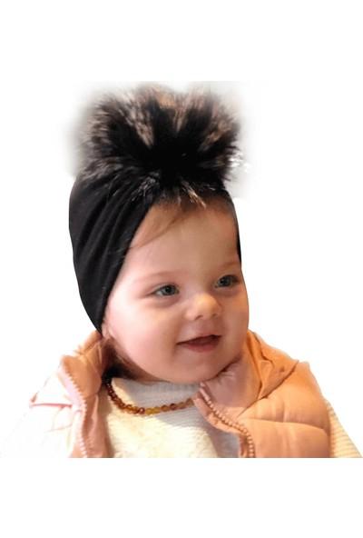 Babygiz Siyah Ponpon Detaylı Bone