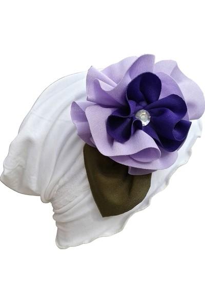 Babygiz Çiçek Aksesuarlı Abiye Bere