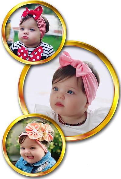Babygiz Fiyonk Aksesuarlı 3'lü Bandana Seti