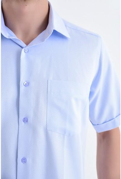 Hatemoğlu Desenli Kısa Kol Gömlek