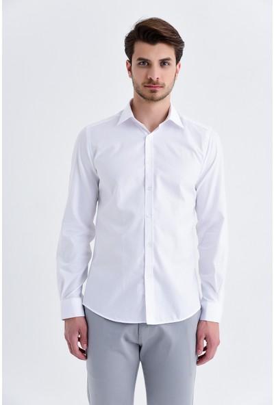Hatemoğlu Desenli Slim Fit Gömlek