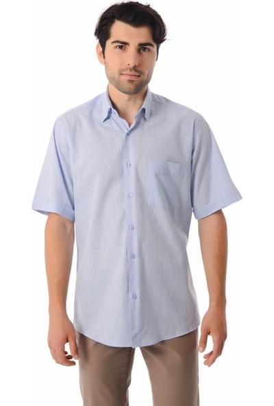 Hatemoğlu Düz Kısa Kol Klasik Gömlek