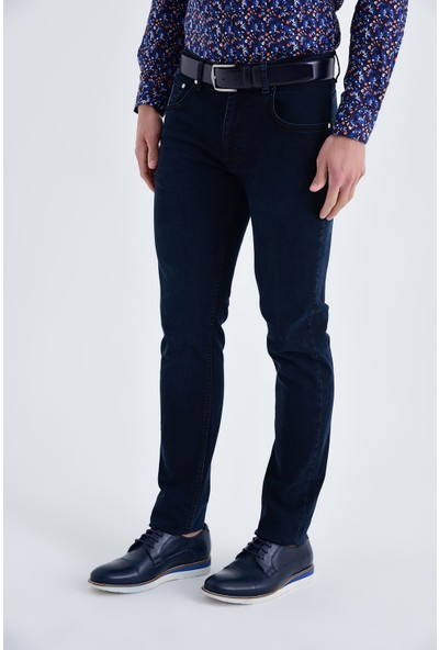 Hatemoğlu Lacivert Düz Regular Pantolon