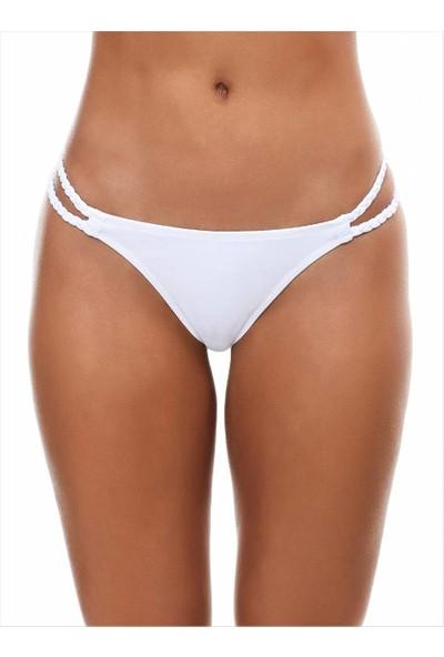 Ayyıldız Kadın 63050 Strıng Bikini Altı Beyaz