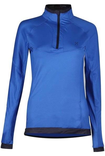 Exuma 172211 M Üst Fermuarlı Kadın Sweat Mavi