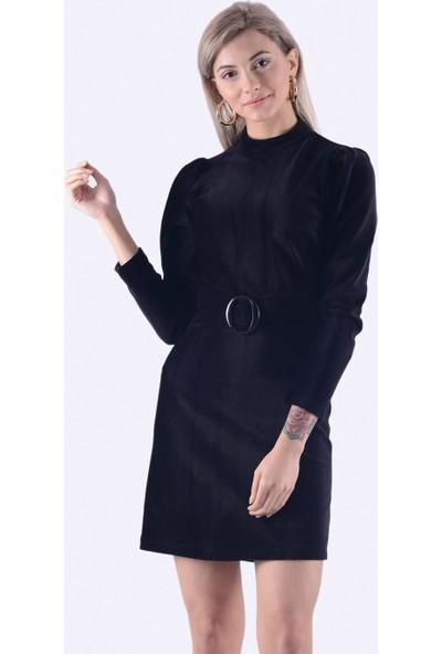 İroni Fitilli Kadife Mini Elbie - 5218-1288 Siyah