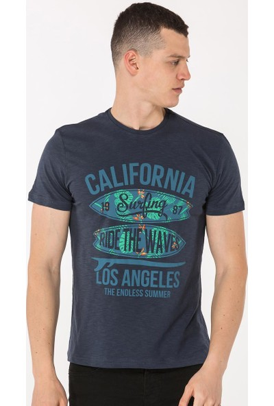 Mille Tafarı Erkek T-Shirt Lacivert