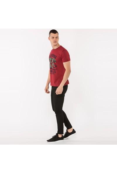 Mille Tafarı Erkek T-Shirt Bordo