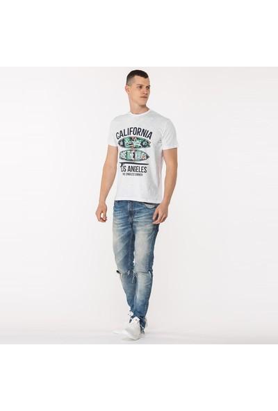 Mille Tafarı Erkek T-Shirt Beyaz