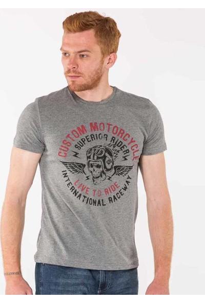 Mille Tamzen Erkek T-Shirt Gri