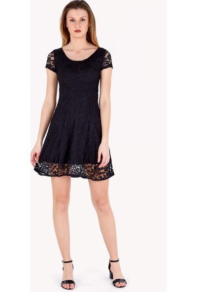 FullaModa Kadın Dantelli Elbise