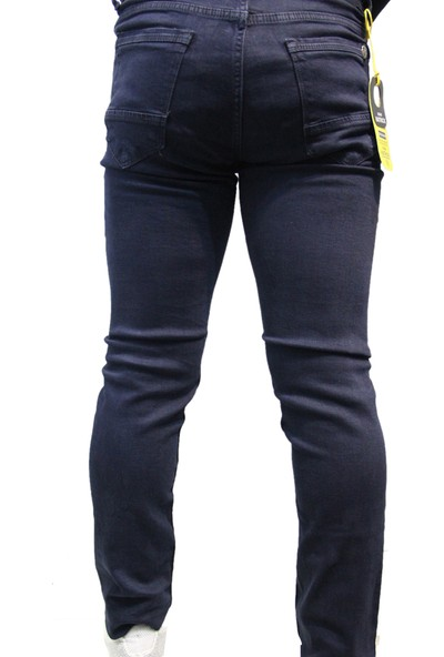 Denim Jeans Lacivert 00772 Likralı Oturtmalı Dar Kesim Erkek Kot Pantolon