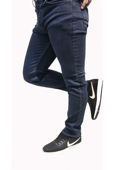 Denim Jeans Likralı Oturtmalı Dar Kesim Erkek Kot Pantolon