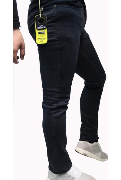 Denim Jeans Koyu Lacivert 330085 Dar Kesim Likralı Oturtmalı Kalıp Likralı Erkek Kot Pantolon