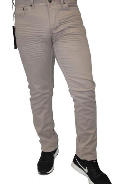 Saflee Krem74009 Likralı Oturtmalı Kalıp Dar Kesim Erkek Kot Pantolon
