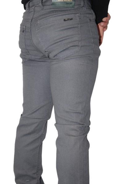Denim Jeans 00887 Dar Kesim Oturtmalı Kalıp Likralı Erkek Kot Pantolan